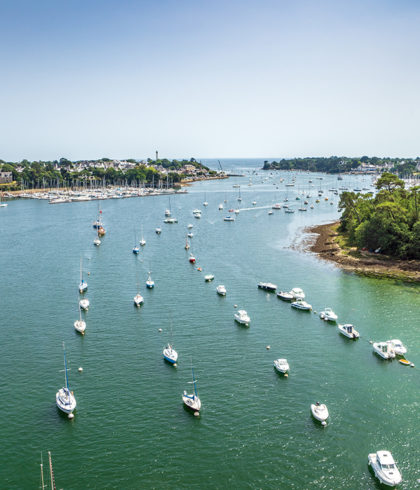 The Brittany Riviera filmed with a drone